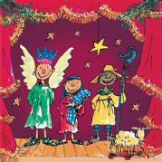 Quentin Blake Charity Christmas Cards - Nativity Play
